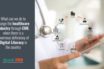 What can we do to change the healthcare industry through EHR, when there is a cavernous deficiency of Digital Literacy in the country